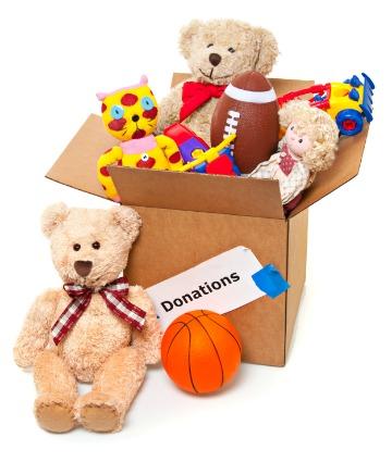 Donating toys at the holidays