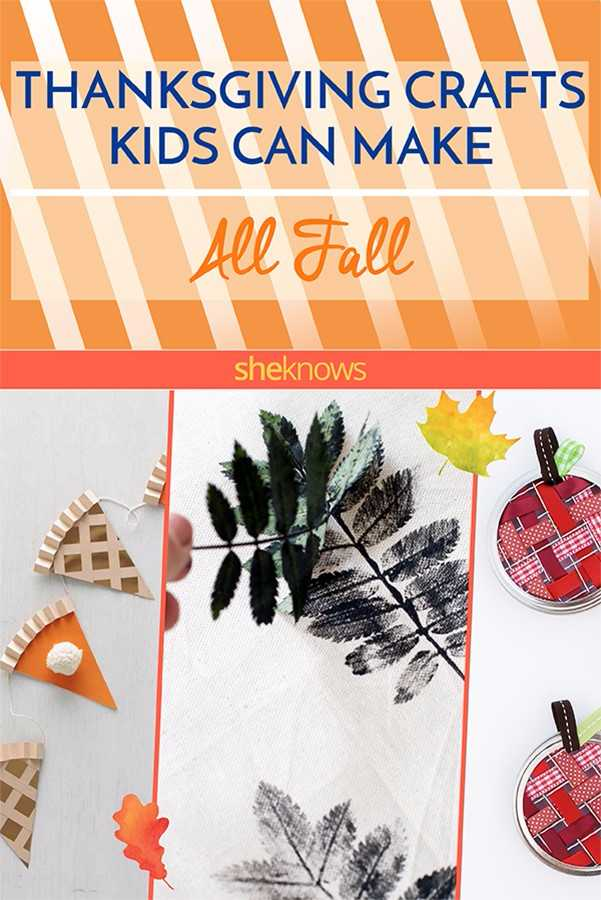 Fall Thanksgiving crafts for kids: Pin it
