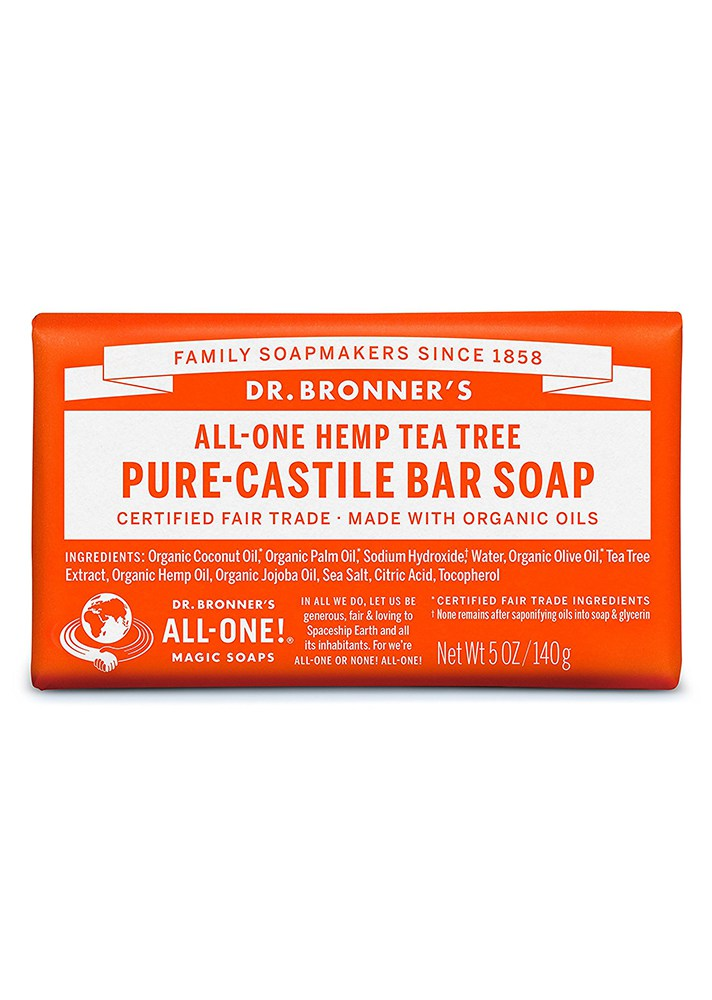 Dr. Bronner's All-One Hemp Pure Castile Tea Tree Bar Soap