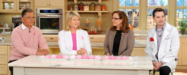 """Dr. Mitchell Gaynor, Martha Stewart, Dr. Deborah Axelrod and Dr. Scott Noggle are seen in this photo from the production of """"The Martha Stewart Show"""" in New York on Tuesday, October 18, 2011."""