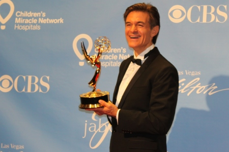 Dr. Oz wins his first Emmy!