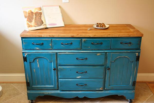 Dresser made into kitchen island