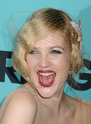 Drew Barrymore is all smiles at Grey Gardens' premiere