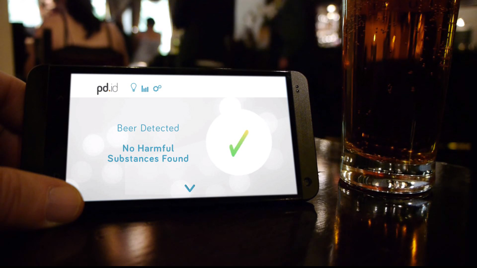 The Personal Drink Identification Device, also known as pd.id., can't tell you what kind of rum is in your mojito—but it can tell if you if your