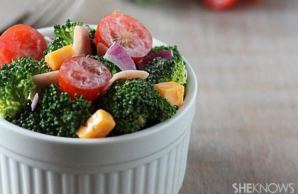 Hearty broccoli chopped salad