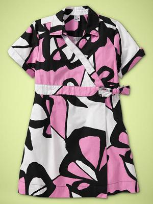 Diane Von Furstenberg (heart) GapKids Printed Wrap Dress in Pink Lady: ($65)