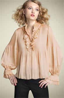 Diane von Furstenberg ruffled blouse