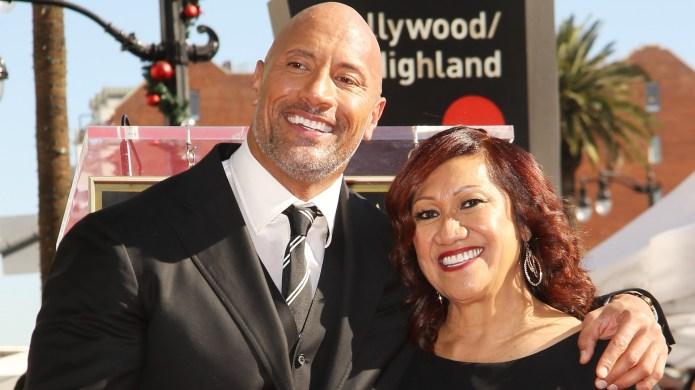 Dwayne Johnson and his mom, Ata