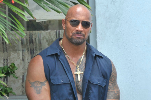 """Dwayne """"The Rock"""" Johnson on Pain and Gain Movie Set"""