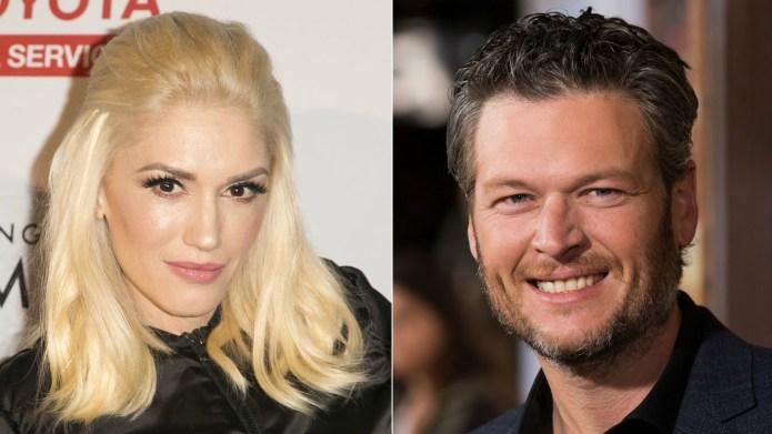Gwen Stefani and Blake Shelton caught