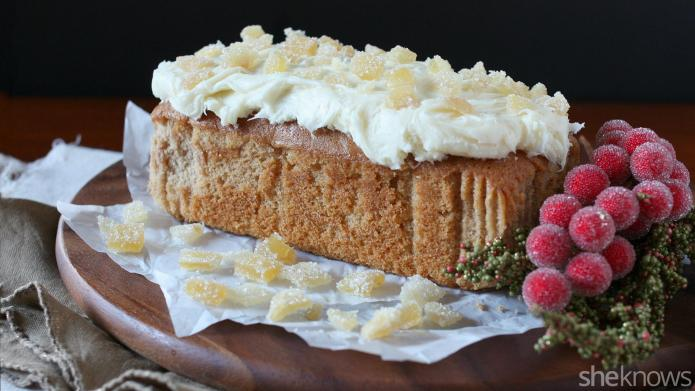 Spicy gingerbread loaf cake