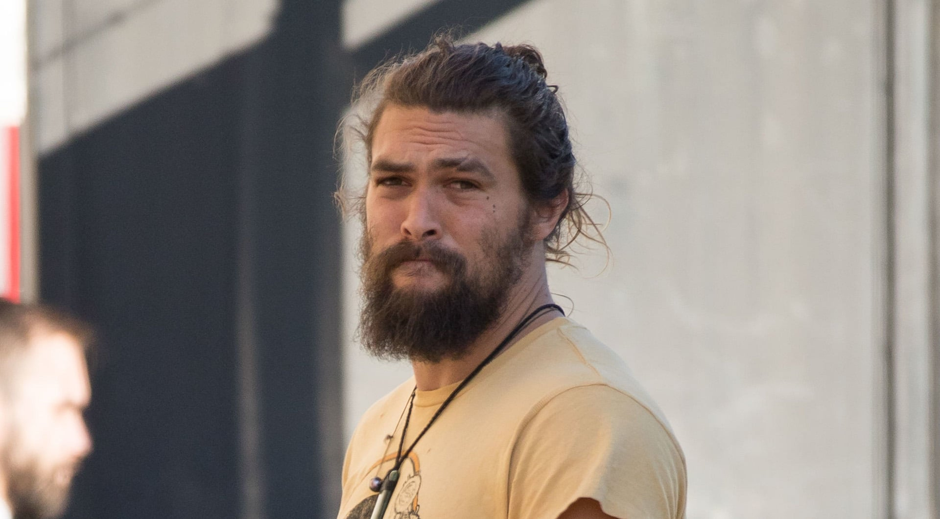 Jason Momoa Just Isn T Our Beloved Man Beast Without His Man Bun Sheknows