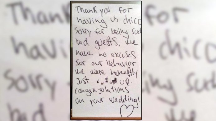 Couple's wedding night was ruined by