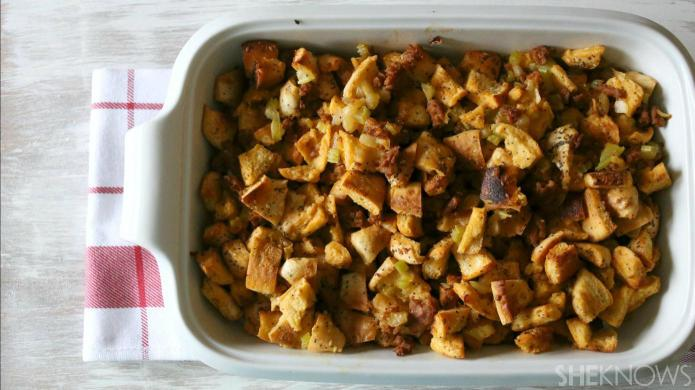 Everything bagel stuffing is a fun