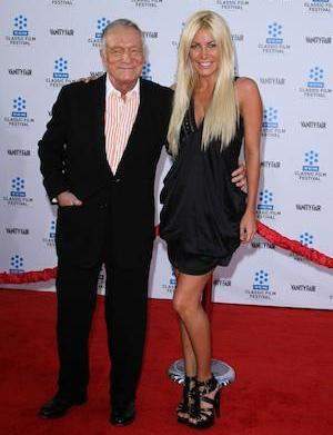 Still gross, but congrats: Hugh Hefner