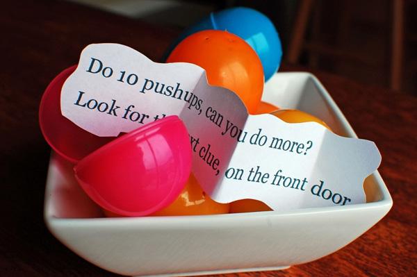 Easter egg fitness hunt