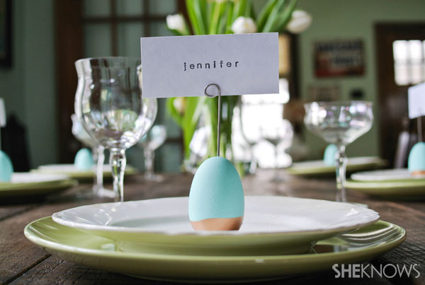 DYI Easter egg place card holders