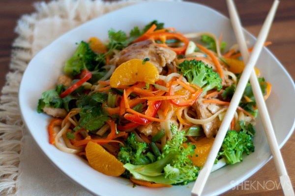 Easy orange chicken noodle stir-fry recipe |SheKnows.com