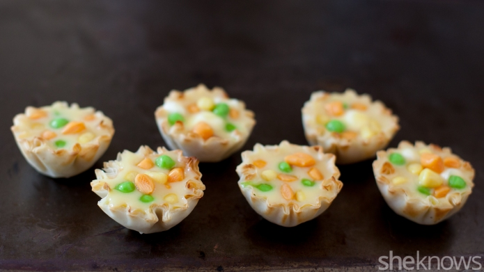 Make mini chicken pot pies that