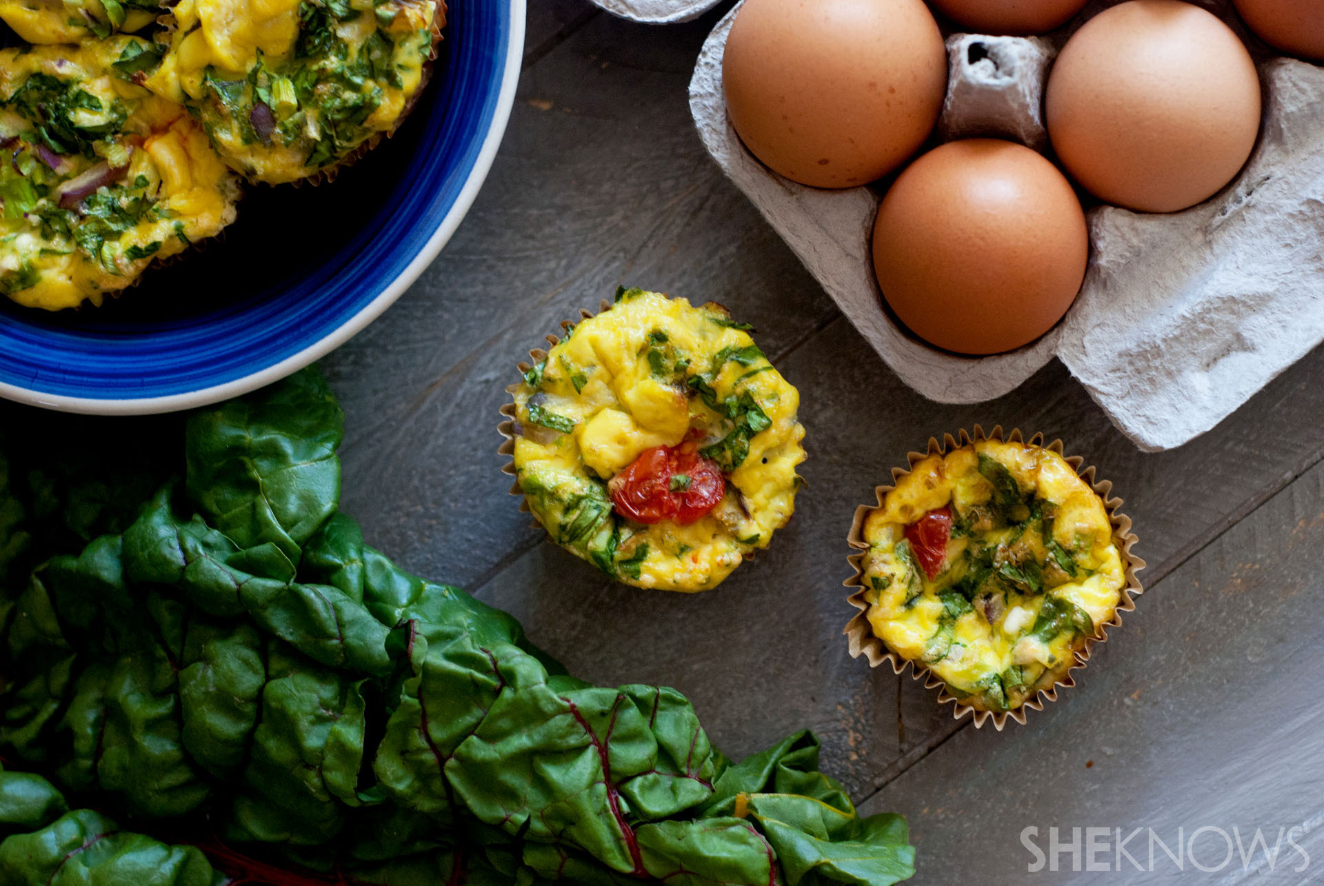 Mini swiss chard egg frittatas recipe