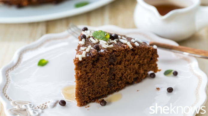 Marsala wine makes simple chocolate cake