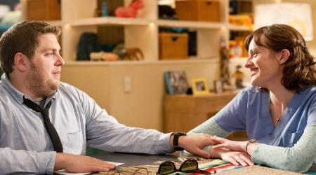 Jonah Hill and Elisabeth Moss in Get Him to the Greek