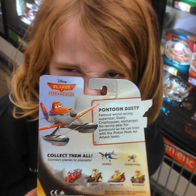 girl upset at Planes Fire and Rescue Toys