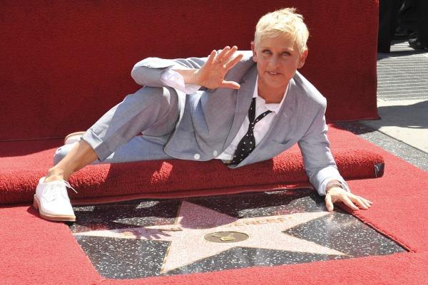 Ellen DeGeneres gets Walk of Fame star