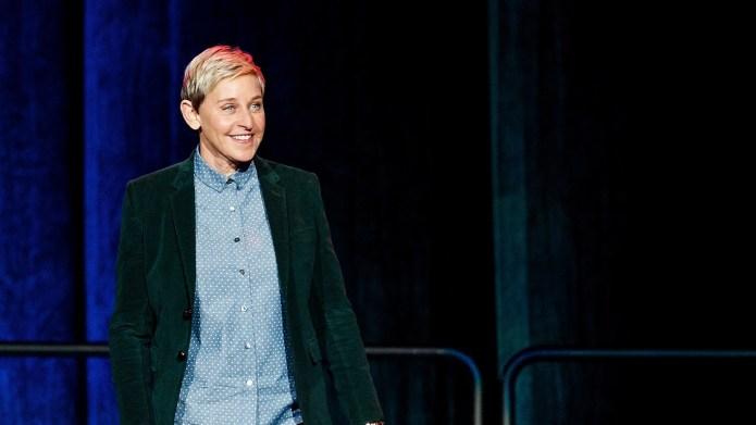 : Comedian Ellen DeGeneres seen onstage