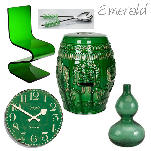 Items around the home in emerald green