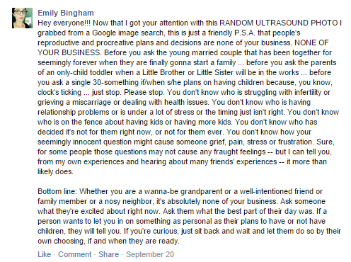 Emily Bingham Viral Facebook post