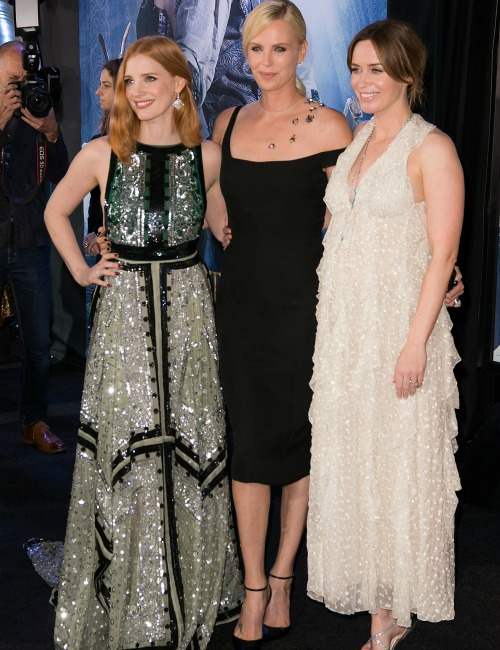 Pregnant Emily Blunt, Charlize Theron, Jessica Chastain