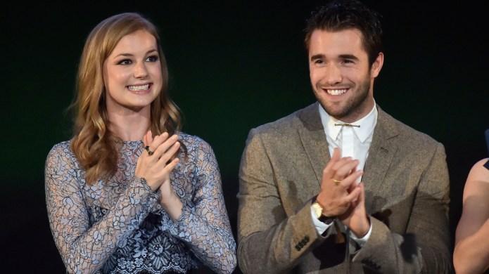 Actors Emily VanCamp (L) and Joshua