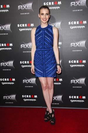 Emma Roberts at the Screm 4 Premiere