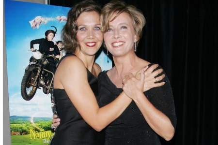 Emma Thompson and Maggie Gyllenhaal at the Nanny McPhee Returns premiere