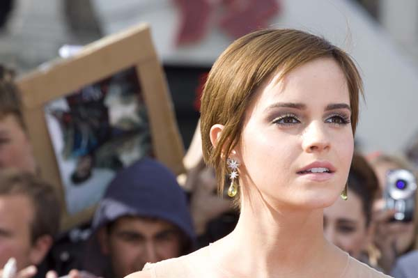 Emma Watson at the Harry Potter premiere
