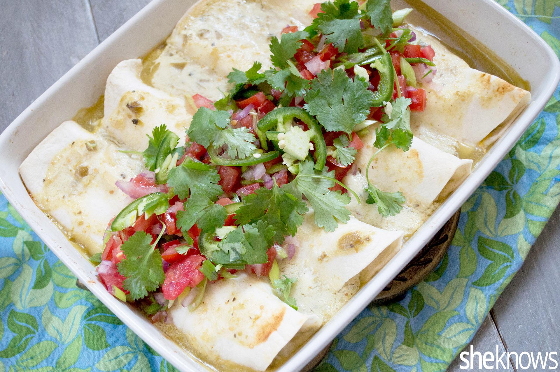 chicken verde enchiladas