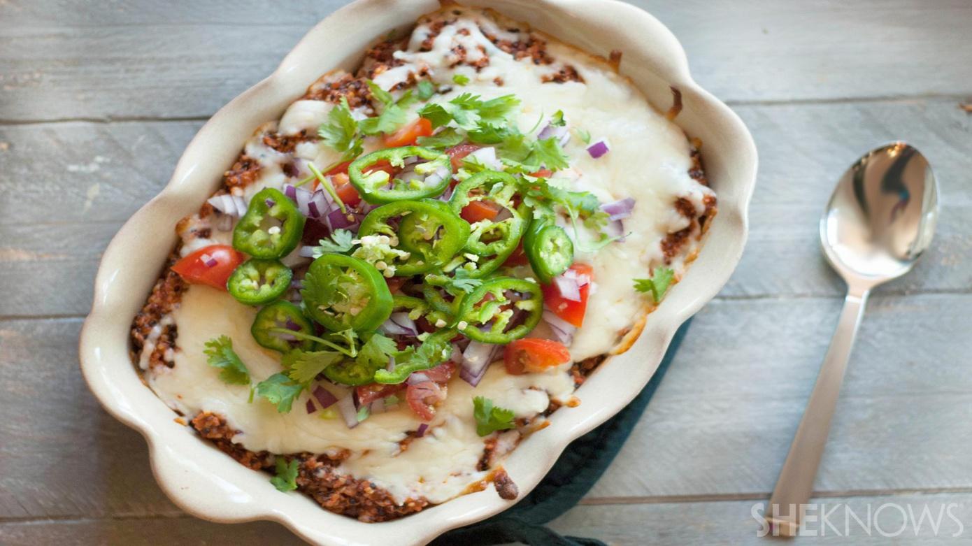 one-pot enchilada quinoa casserole