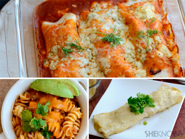 Enchiladas three ways