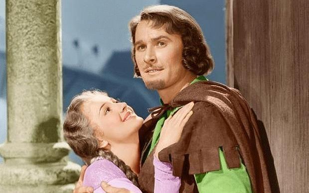 Erroly Flynn in The Adventures of Robin Hood