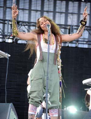 Erykah Badu performs at Coachella 2011