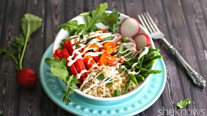 Gluten-free veggie burrito bowls are a