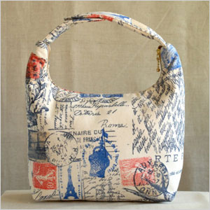 Vintage postcard insulated lunch bag