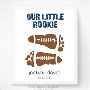 Baby footprint football art | Sheknows.com