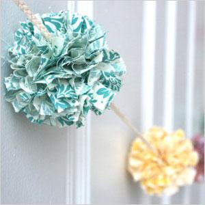 Fabric pompom garland