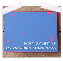 Shark week note card