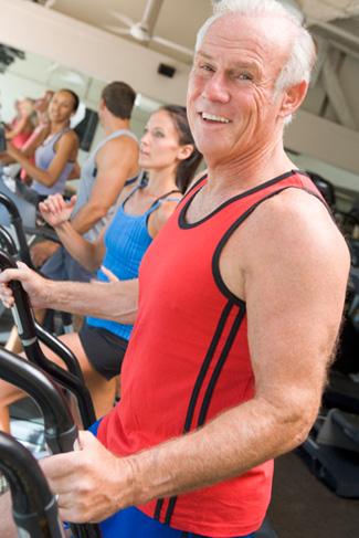 Exercising Senior Man