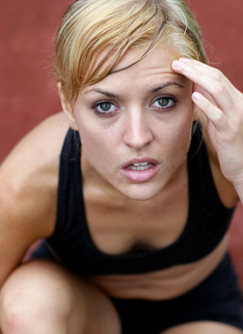 Exhausted Woman After Run