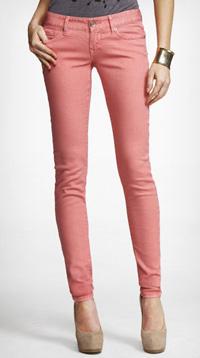 spiced guava colored jean leggings
