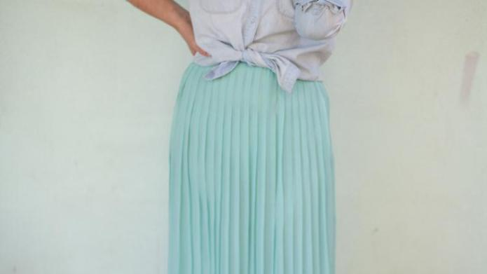 Mama loves style: Mint green and